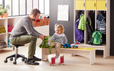 How to decorate a preschool cloakroom for children and adults