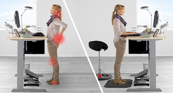 Take the strain out of standing with anti-fatigue mats