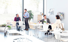 A good office layout will encourage spontaneous meetings