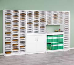 Mail sorting cabinets