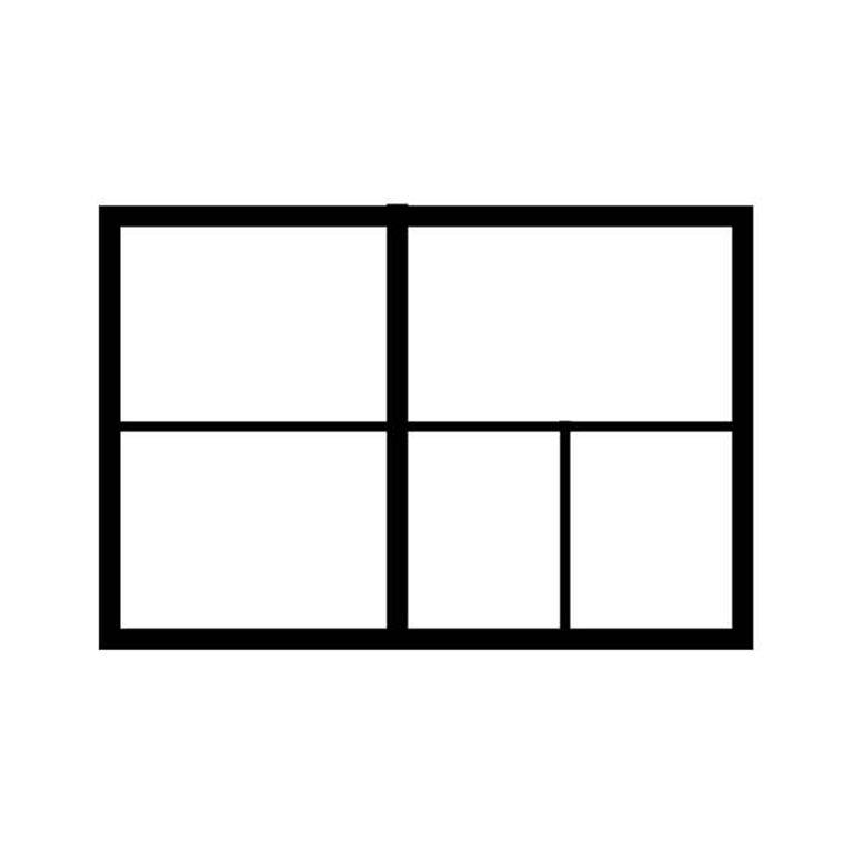 A1 drawer partition: 3 x A3 + 2 x A4