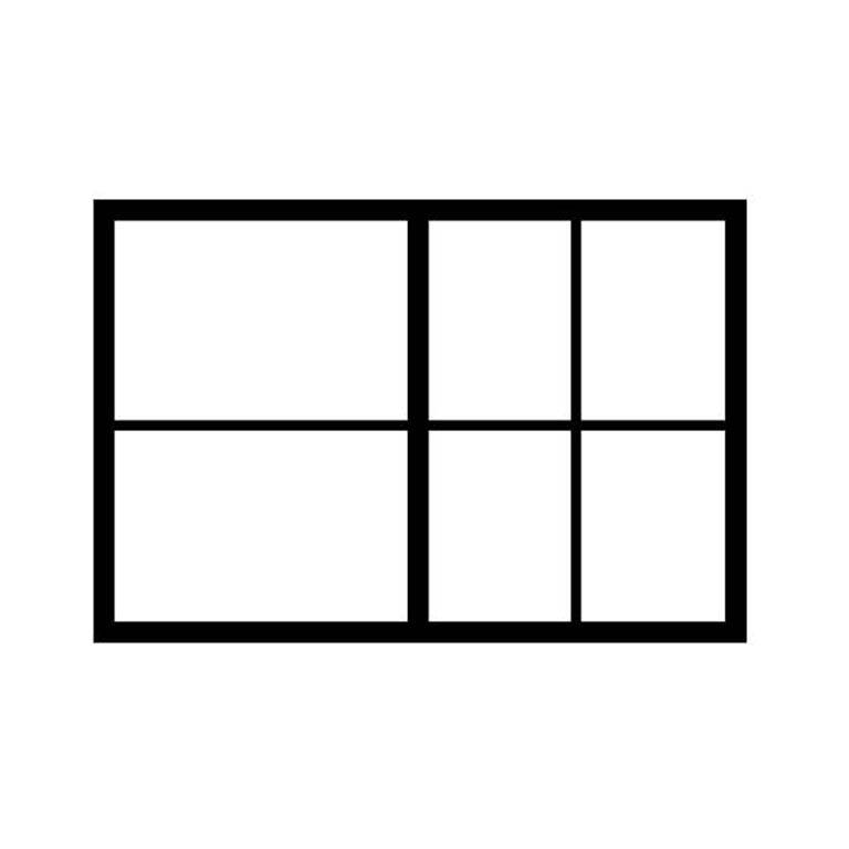 A1 drawer partition: 2 x A3 + 4 x A4