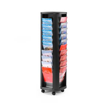Display rack, A4, 40 comps, rotary model