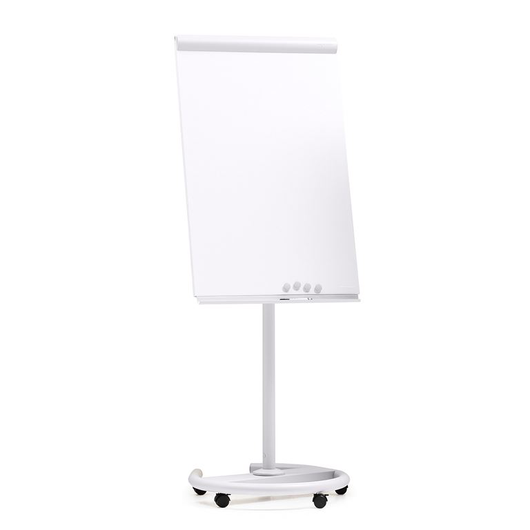Mobile whiteboard | flip chart stand with rectractable arms