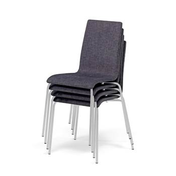 Modern conference chairs (x4), dark grey, alu lacquer