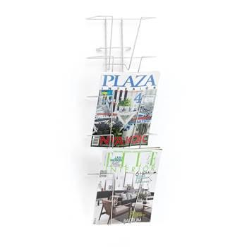 Stojak reklamowy o wys. 1850mm, 40 A4 pionowo, Kolor: Chrom