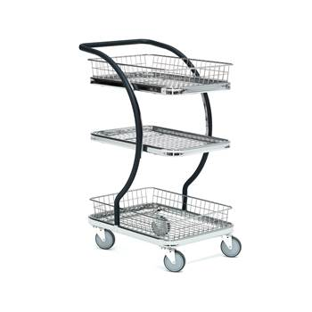 Basket trolley 2pcs basket + 1 shelves