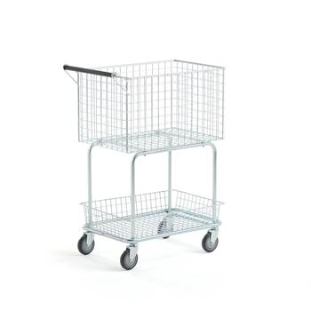 Post and packet trolley, 100 kg load, 700x400x860 mm