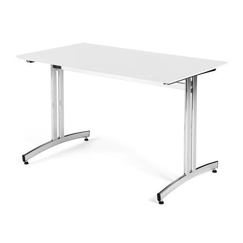 Stół do jadalni 700x720x1200mm Blat: Biały, Stelaż: Chrom
