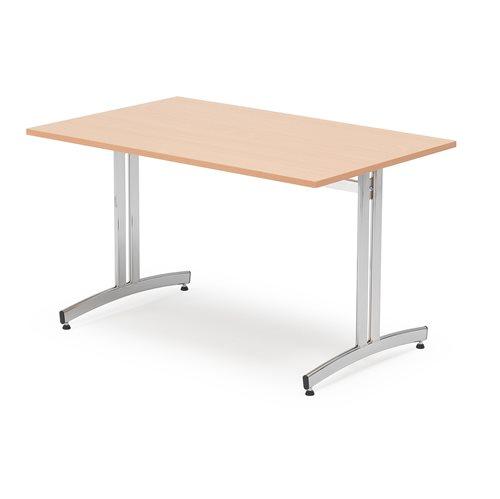 Ruokapöytä, 1200x700 mm, pyökkilaminaatti, kromi
