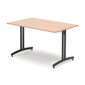 Lunchrumsbord, 1200x800 mm, boklaminat, svart