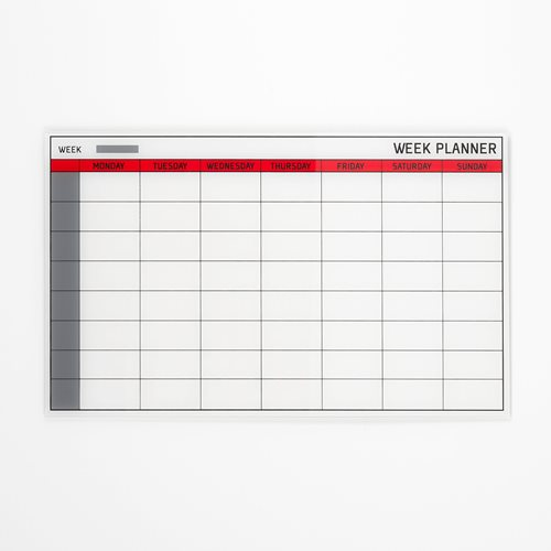 Glass weekly planning board