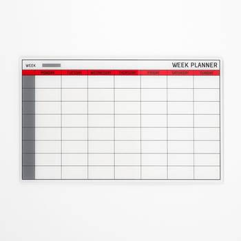 Szklana tablica planu tygodniowego
