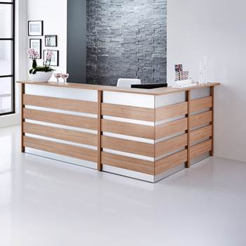 Complete reception desk system, 2600x1800x1150 mm
