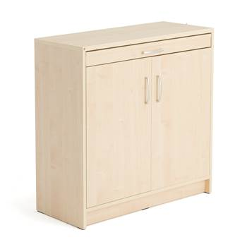 Mail cupboard, with doors, 890x915x400 mm, birch