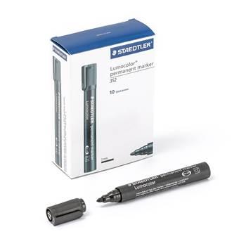 Permanente markeringspenner, Staedtler, 10-pk