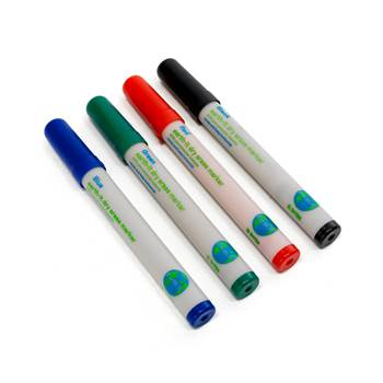 Coloured whiteboard markers