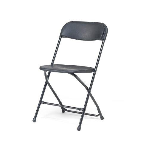 Czarne krzesło składane, Stelaż: czarny