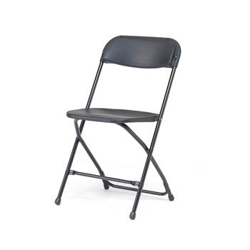 Stable folding chair, black, black