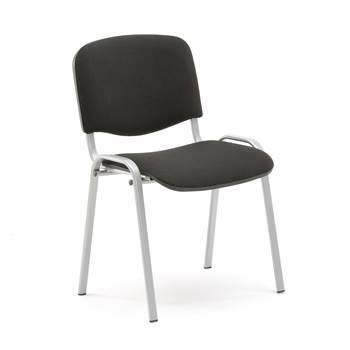Koferencijska stolica, crna/boja aluminija