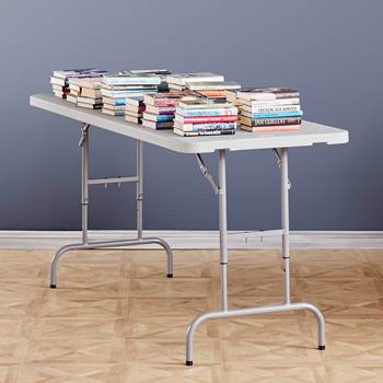 #en Foldable table with 4 adjustable heights 1830x760 mm
