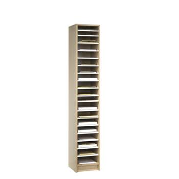 Pigeon hole storage unit, 18 comps, 1880x315x400 mm, birch