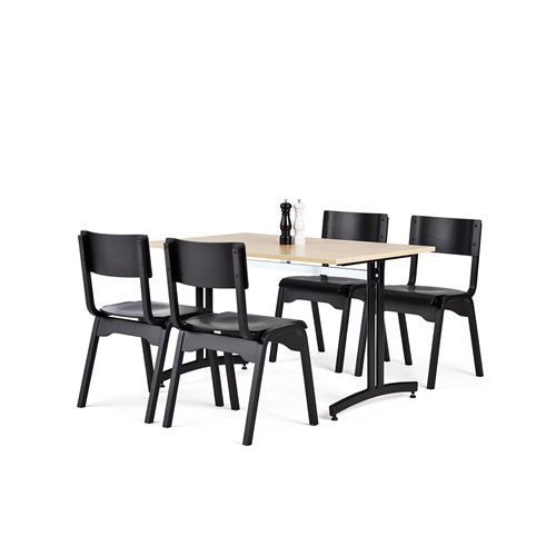 Canteen package deal: table + 4 chairs