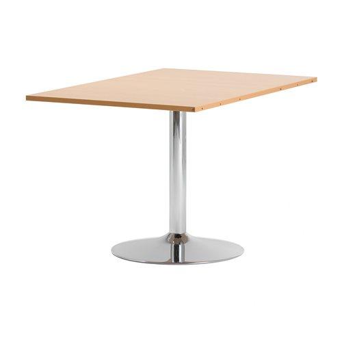 Lisäpöytälevy neuvottelupöytään Flexus, 1200x800 mm, pyökkilam., kromi
