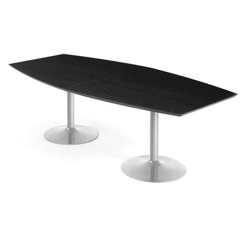 Neuvottelupöytä, 2400x1200 mm, musta, harmaa