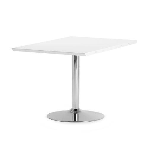 Stół konferencyjny Blat biały, Stelaż: Chrom