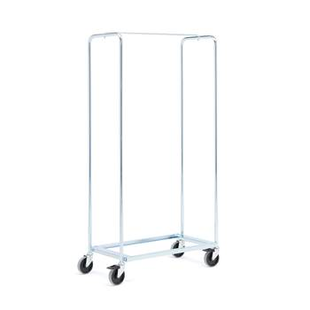 Galvanised chair trolley, 1760x485x1060 mm