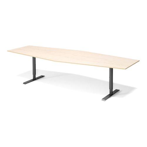 Stół konferencyjny Blat: brzoza laminat, Stelaż: Czarny, 1200x2800mm