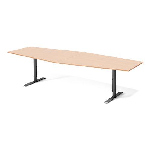 Stół konferencyjny Blat: buk laminat, Stelaż: Czarny, 1200x2800mm