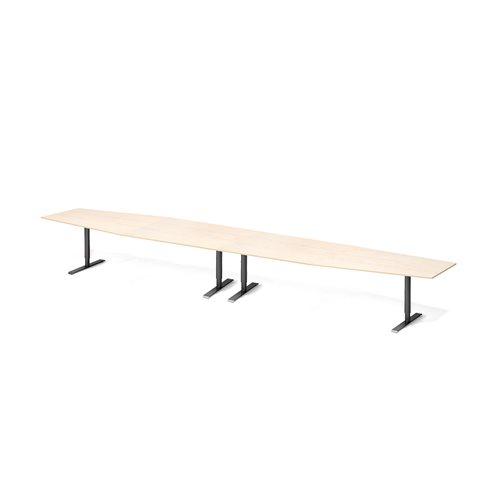 Neuvottelupöytä, 5600 mm, koivulaminaatti, musta