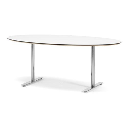 Stół konferencyjny, Biały blat, Stelaż chrom