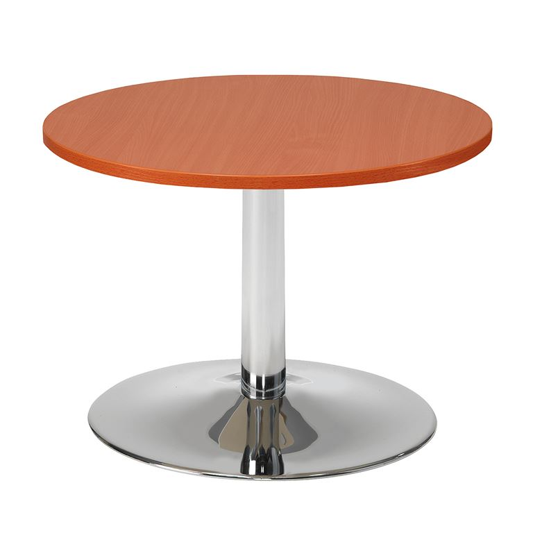 #en Sofa table Ø700 mm calvados top chromed base