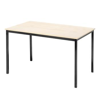 Canteen table, 1200x800x735 mm, birch laminate, black