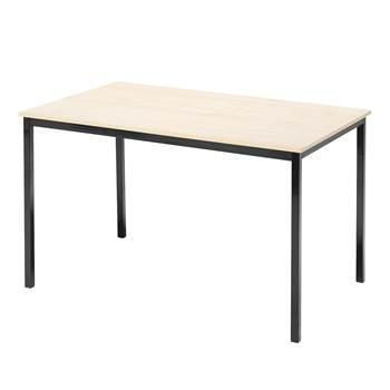 Lunchrumsbord, 1200x800 mm, björklaminat, svart