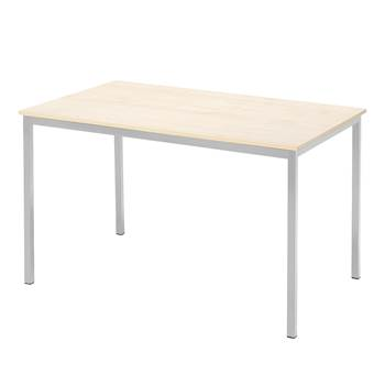 Canteen table, 1200x800x735 mm, birch laminate, alu laq