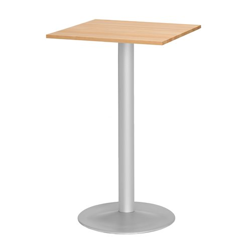 Stół barowy - Blat Buk, Stelaż Aluminium