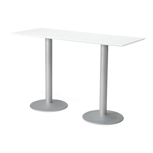 Baaripöytä, puukuvioitu pöytälevy, 1800x700 mm, valkoinen, harmaa