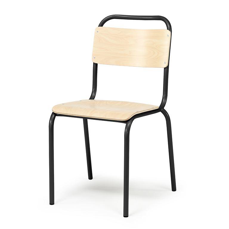 Tuoli, koivu, musta