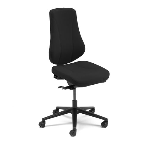 #en Office chair Alford with multi functions, black fabric