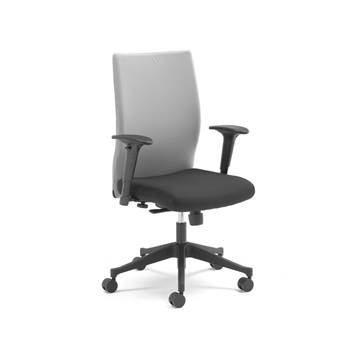 Milton modern office chair, grey back