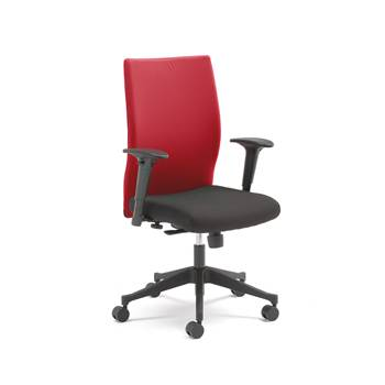Milton modern office chair, red back
