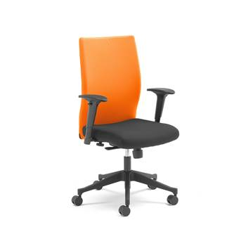 Milton modern office chair, orange back