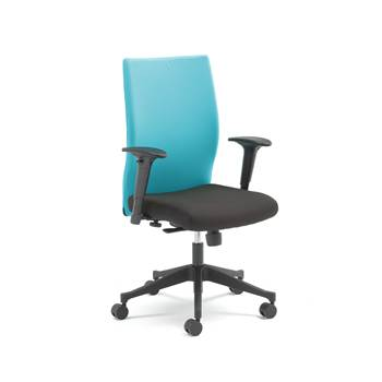 Milton modern office chair, turquoise back