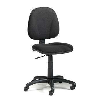 Dover office chair, low back, black