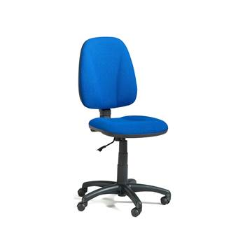 Dover office chair, high back, blue