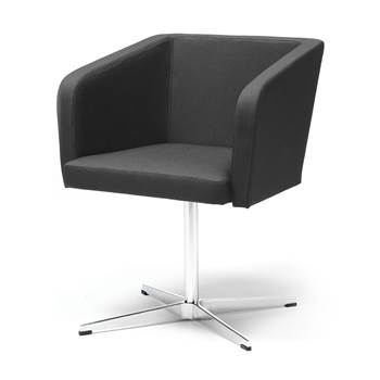 "Conference chair with ""star"" legs : Black"